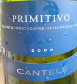 Cantele Primitivo Salento 2009