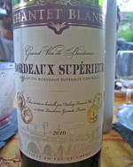 Chantet Blanet 2010 Bordeaux Supérieur