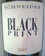 Markus Schneider Black Print 2009