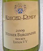 Kruger Rumpf 2009 Weisser Burgunder