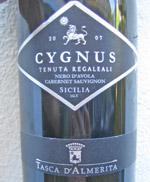 Cygnus Tenuta Regaleali Tasca d'Almerita 2007