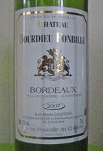 Chateau Bourdieu Fonbille Bordeaux 2007