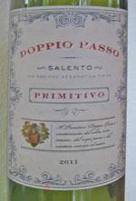 Doppio Passo Salento Primitivo 2011