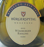 Bürgerspital Würzburger Riesling 2012