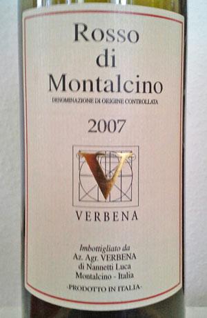 verbena rosso di montalcino 2007