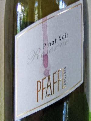 Pfaffl Pinot Noir Reserve 2011