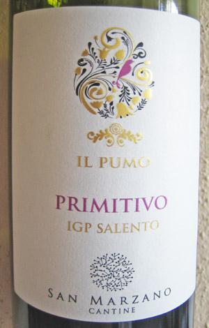 Il Pumo Primitivo Cantine San Marzano