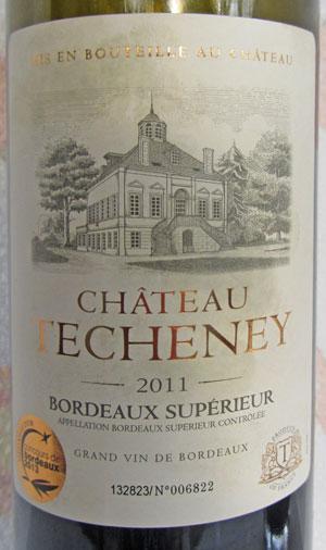 Château Techeney Bordeaux Supérieur 2011