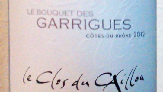 Le Clos du Caillou – le Bouquet des Garrigues 2012