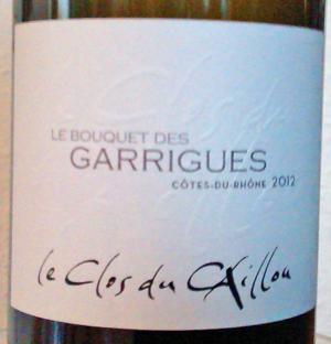 Clos du Caillou Bouquet des Garrigues 2012