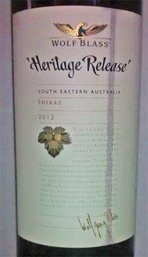 Wolf Blass Heritage Release 2012 bei Aldi