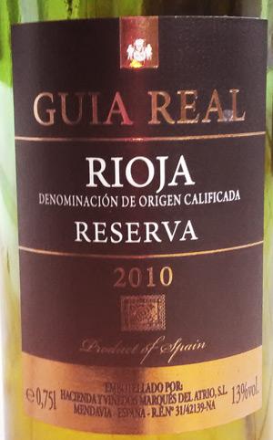 Guia Real Rioja Reserva 2010 bei Aldi