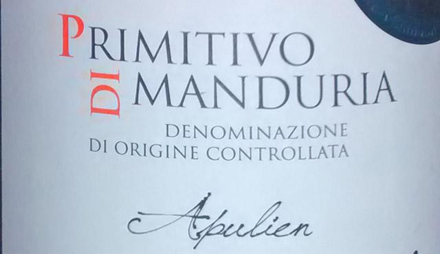 Primitivo di Manduria 14 2013
