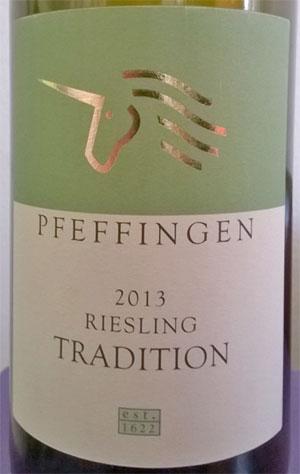Pfeffingen 2013 Riesling Tradition