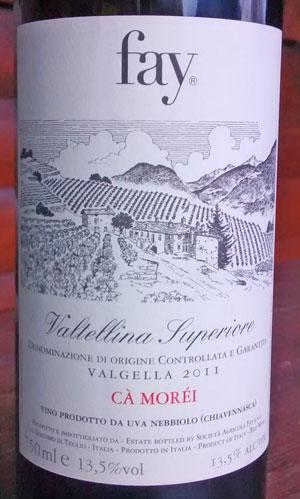 Fay Valtellina Superiore Valgella 2011 Cà Moréi