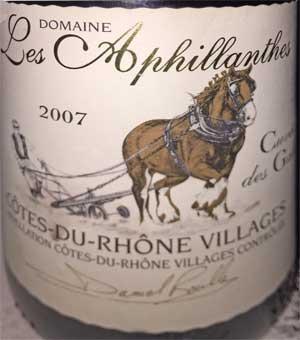 Domaine Les Aphillantes Cuvée des Galets 2007