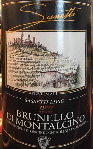 Pertimali Livio Sassetti Brunello di Montalcino 1997