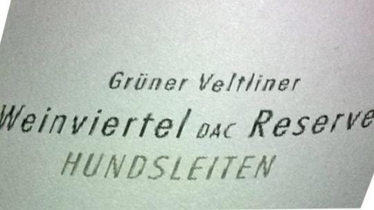 Pfaffl Hundsleiten Grüner Veltliner 2013