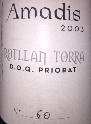 Amadis 2003 Bodegas Rotllán Torra