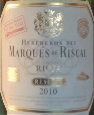 Herederos del Marques de Riscal 2010