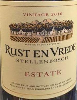 Rust en vrede estate stellenbosch vintage 2010