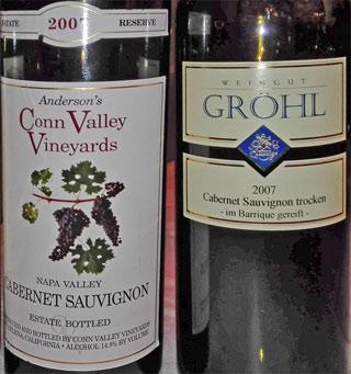 Andersons Conn-Valley und Gröhl Cabernet Sauvignon 2007