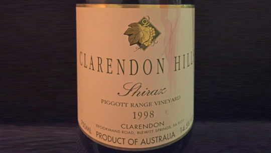 Clarendon Hills Shiraz Piggott Range Vineyard 1998
