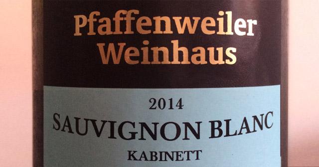 Sauvignon Blanc 2014 Pfaffenweiler Weinhaus
