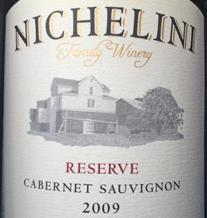 Nichelini Carbernet Sauvignon Reserve 2009