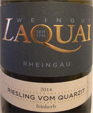 Laquai Riesling vom Quarzit 2014