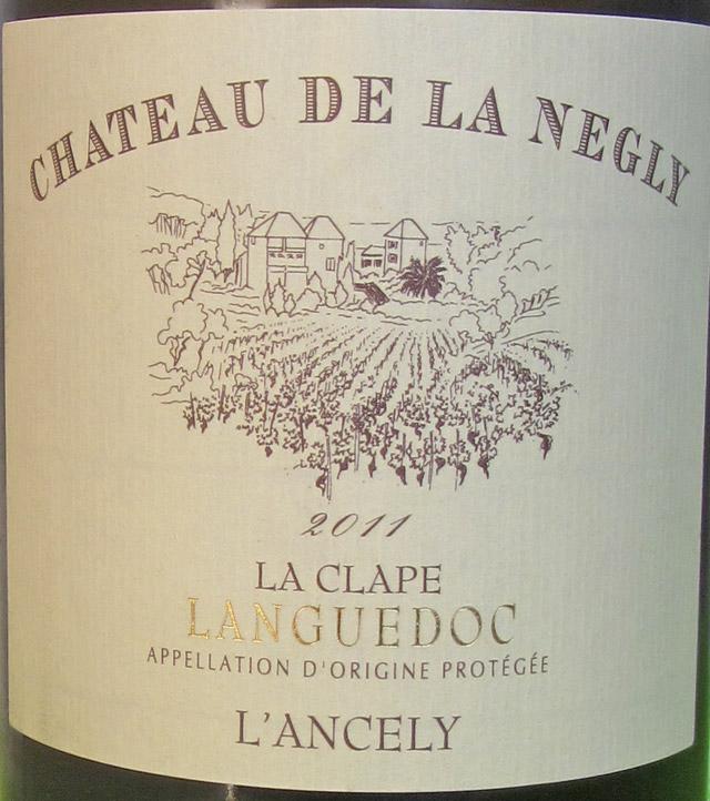 Château de la Negly L'Ancely 2011