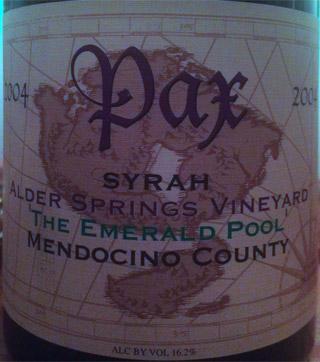 pax syrah alder springs the emerald pool