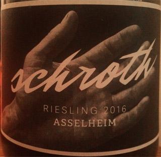 Schroth Riesling Asselheim 2016
