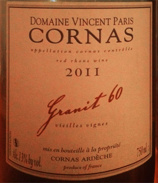 Vincent Paris Cornas Granit 60 2011