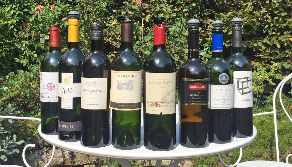 Wein-Tasting Argentinien Chile beste Weine